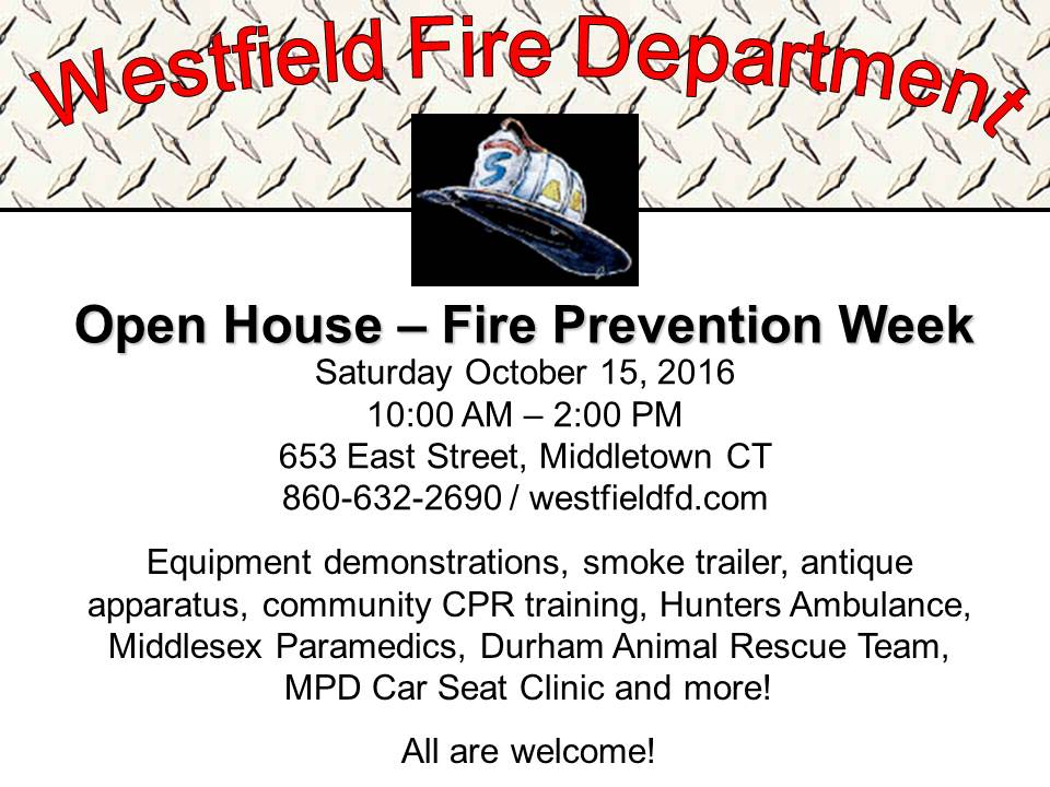 Open House – Fire Prevention Week