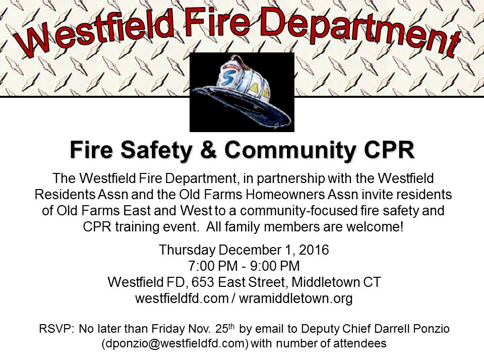 Fire Safety & Community CPR for Old Farms